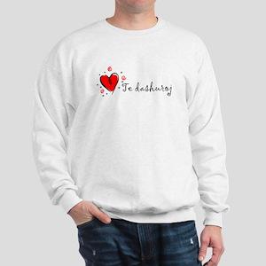 """""""I Love You"""" [Albanian2] Sweatshirt"""